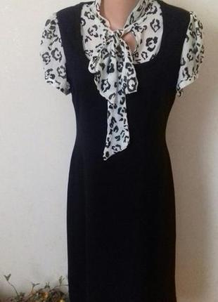 Распродажа!!!вискозное платье с принтом и шифоновыми рукавами ...