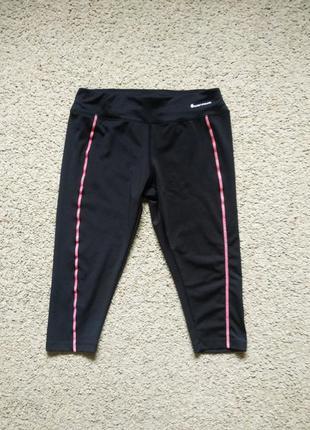 Черные спортивные капри размер м