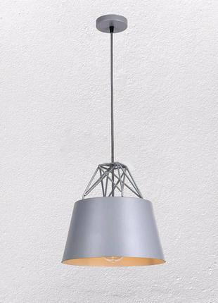 Серая люстра на одну лампу в стиле Лофт