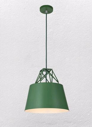 Сочная зеленая люстра светильник Лофт на одну лампу