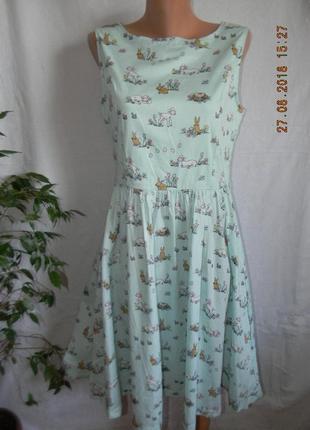 Платье с нежным оригинальным принтом lindy bop