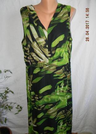 Новое нарядное длинное платье большого размера