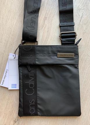 Мужская сумка calvin klein чёрная наложенный платёж