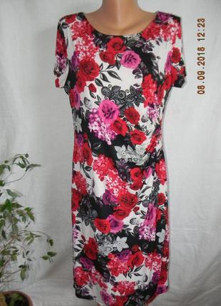 Платье с принтом розы david emanuel