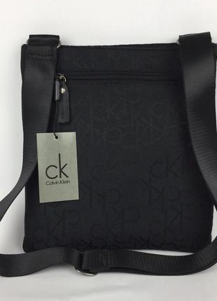 Мужская сумка calvin klein чёрная аксессуар на плечо