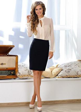 Классическая юбка до колен офис.0156 новое сток