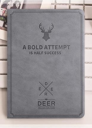 Чехол обложка DEER для Apple iPad 2/3/4 Серый