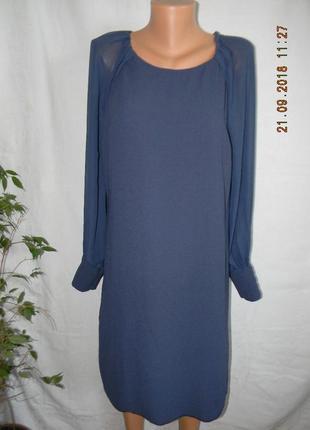 Осеннее платье с шифоновыми рукавами