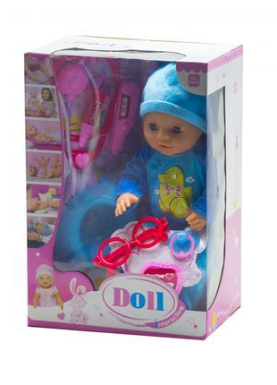 """Функциональный пупс с докторским набором """"Doll"""" (в голубом) (YL18"""