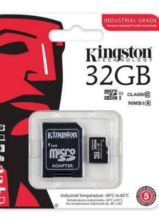 Карта памяти с адаптером Kingston micro SD HC 32GB Class 10