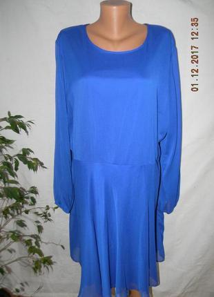 Шифоновое платье очень большого размера label be