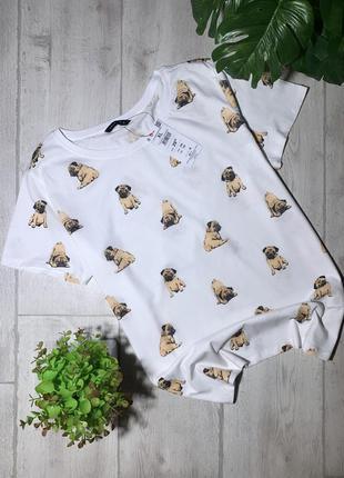 Стильная футболка с мопсами