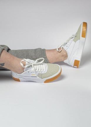 Кеды puma cali exotic кроссовки белые