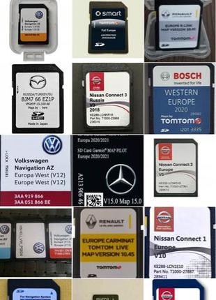 SD GPS карты Mazda Nissan Mercedes Lexus Ford Renault vw