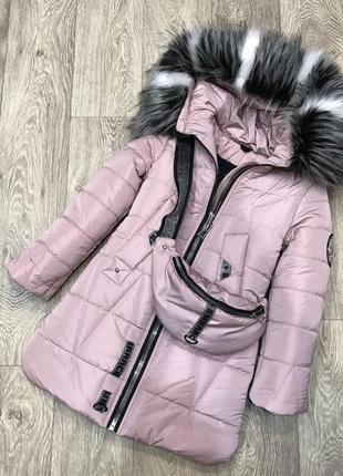 Хит зимняя тёплая курточка в комплекте с бананкой