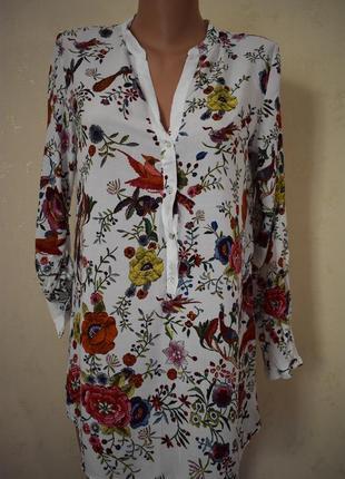 Вискозная красивая блуза -рубашка