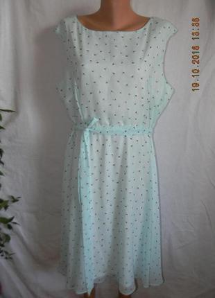 Новое нежное шифоновое платье большого размера