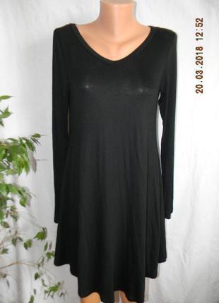 Базовое черное новое трикотажное платье