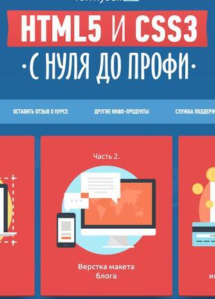 Создание сайтов обучение HTML, CSS с нуля. Видеокурс