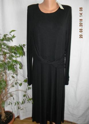 Новое трикотажное черное платье long tall sally