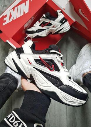 Кроссовки nike m2k tekno white/black/red