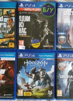 Игры PS4 Detroit,Horizon Zero Down,Grand Turizmo Sport,Uncharted4