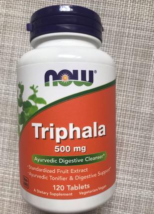 Now Foods , Трифала , Triphala , 500 mg ,120 шт