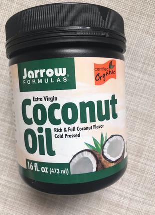 Jarrow Formulas , Кокосовое масло , холодного отжима , 473 ml