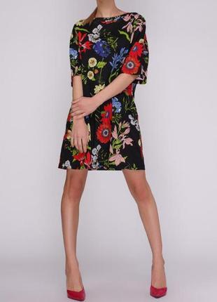 Платье футболка zara в цветы