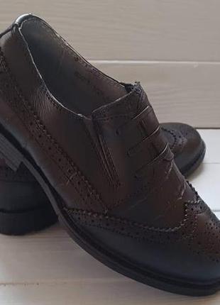 Кожаные классические школьные туфли для мальчика шкіряні туфлі...