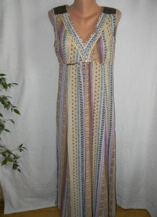 Красивое платье в пол с принтом per una