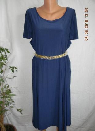 Красивое платье с золотым поясом nina leonard