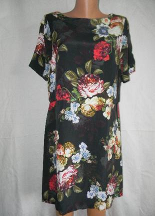 Платье вискоза с цветочным принтом papaya