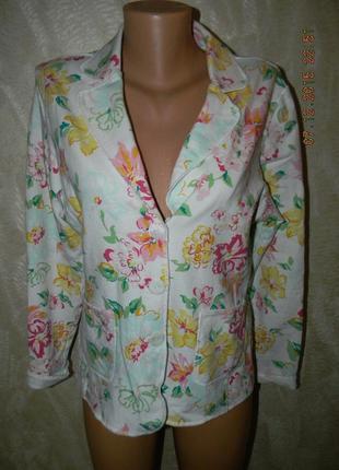 Яркий пиджак с принтом цветы jumper