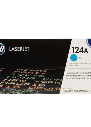 Картридж HP 124A cyan Q6001A для принтера CLJ 1600, 2600n, CM1015
