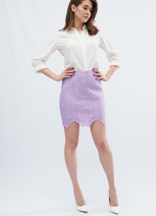 Женская ажурная мини юбка