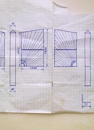 Комплект для дачи: Калитка + ворота + столбы.