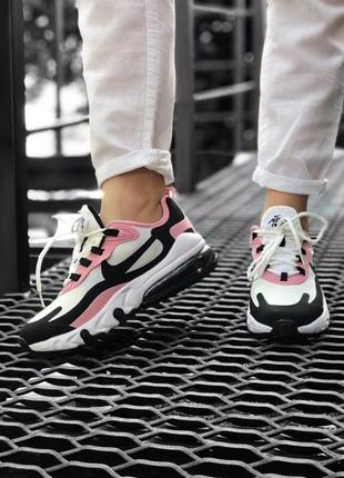 Nike air max 270 react білі з рожевим