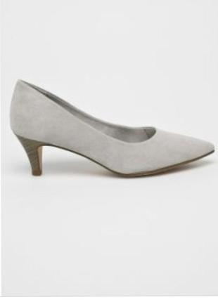 Лодочки на удобном каблуке туфли
