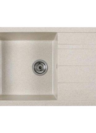Кухонная каменная мойка Ventolux DIAMANTE BLUE SAND 765x485x200