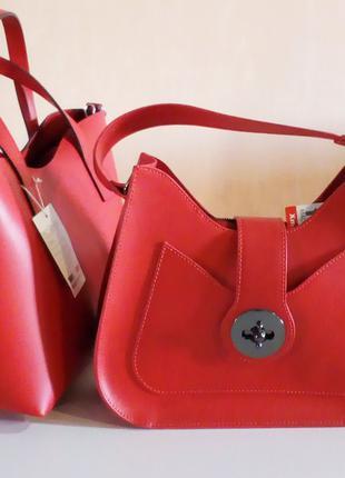 новая кожаная сумка Италия женские сумки кожа натуральная