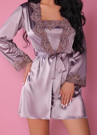 Комплект пеньюар и халат jacqueline violet livia corsetti раз....