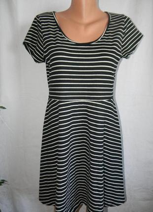 Новое трикотажное платье в полоску