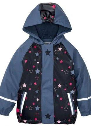 Куртка-дождевик на флисе lupilu 86-92, 110-116, 122-128р