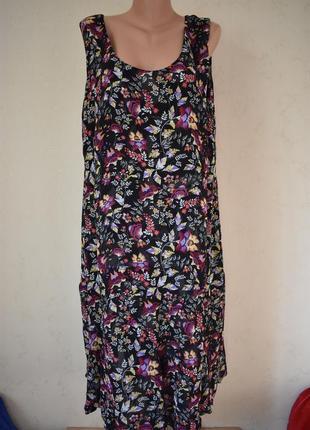 Красивое оригинальное  платье с принтом два в одном большого р...
