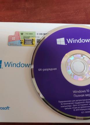 Windows 10 Pro OEM + фирменый диск 32/64 bit