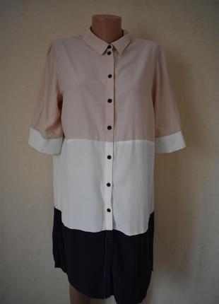 Вискозное платье-рубашка