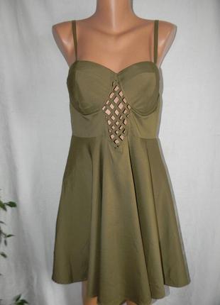 Новое платье на тонких бретелях