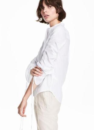Белая рубашка, блуза h&m