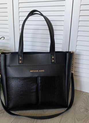 Большая сумка чёрного цвета
